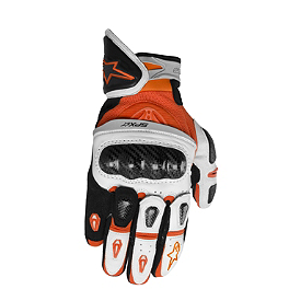 Alpinestars SP-X Leather Gloves - 2010 KTM 1190 RC8 Akrapovic Exhaust Header - Titanium Dual