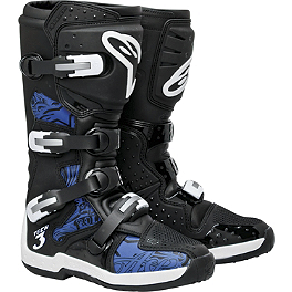 Alpinestars Tech 3 Boots - Chrome - 2013 One Industries Factory Graphic Kit - Suzuki