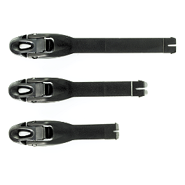 2006 Alpinestars Youth Tech-6S Strap Set - Alpinestars 05 Tech-6S/Tech-4S Buckle Set Black