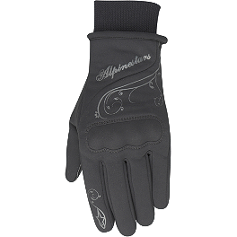 Alpinestars Stella Women's C-1 Windstopper Gloves - BikeMaster Digital Air Pressure Tire Gauge - 0-100 PSI