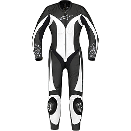 Alpinestars Women's Stella Anouke Leather One-Piece Suit - Yoshimura R-77 Dual Slip-On Exhaust - Stainless Steel With Stainless End Cap