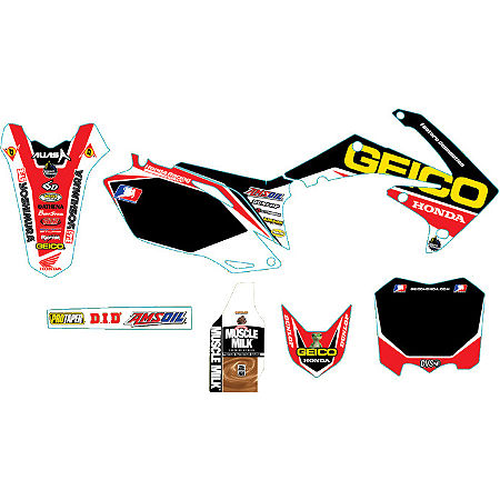 Alias Geico Team Graphics Kit - Honda - Main