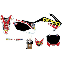 Alias Geico Team Graphics Kit - Honda - 2012 Honda CRF250R Alias Geico Team Graphics Kit - Honda