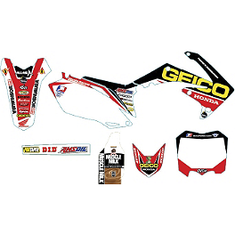 Alias Geico Team Graphics Kit - Honda - 2009 Honda CRF450R Alias Geico Team Graphics Kit - Honda