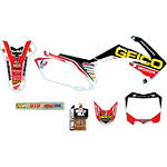 Alias Geico Team Graphics Kit - Honda - Alias Dirt Bike Dirt Bike Parts