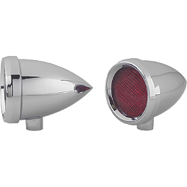 Arlen Ness Speeding Bullet Dual Function Marker Light - Arlen Ness Vision Grooved Die-Cast Mirror
