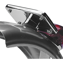 Arlen Ness Stepped License Backing Plate - 2005 Honda VTX1800F2 Arlen Ness Battistini Round Rear Footpegs - Black