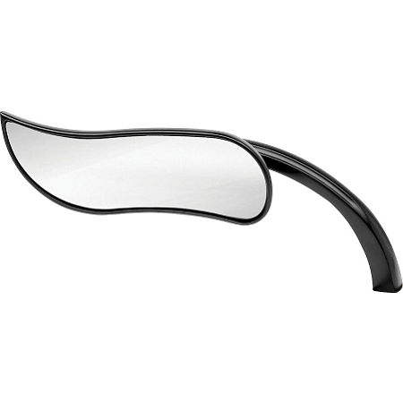 Arlen Ness Upswept Micro Mirror - Black Left - Main