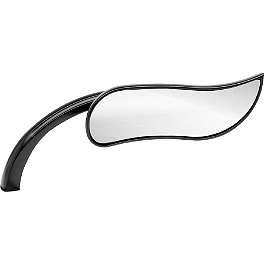 Arlen Ness Upswept Micro Mirror - Black Right - Arlen Ness Scoop Triangle Mirror - Right