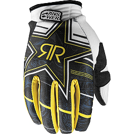 2013 Answer Rockstar MSN Collaboration Gloves - 2013 Fox Dirtpaw Gloves - Rockstar