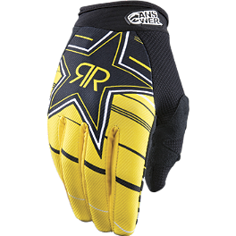 2013 Answer Rockstar Vented Gloves - 2013 Fox Dirtpaw Gloves - Rockstar