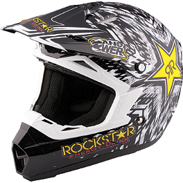 2013 Answer Youth Nova Rockstar Helmet - 2013 Fox Youth V1 Helmet - Rockstar