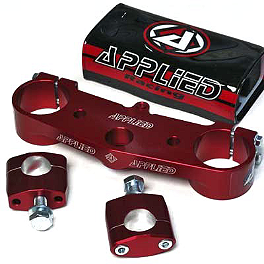 Applied Wrap Top Clamp - Red - Applied Wrap Top Clamp - Silver