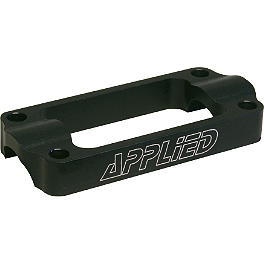 Applied R/S One-Piece Bar Clamp - Oversized - Black - Applied Factory R/S Triple Clamp Set With Oversized Bar Mounts - 21.5mm Offset - Red