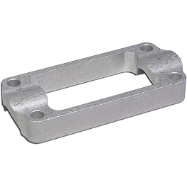 Applied R/S One-Piece Bar Clamp - Oversized - Silver - Applied R/S Triple Clamp Kit With Oversized Bar Mounts - 24mm Offset - Silver