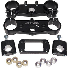 Applied Factory R/S Triple Clamp Set With Oversized Bar Mounts - 18mm Offset - Black - Pro Circuit TI-4 Slip-On Exhaust - Titanium 98dB