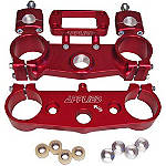Applied Factory R/S Triple Clamp Set With Oversized Bar Mounts - 24mm Offset - Red - All Applied Dirt Bike Products
