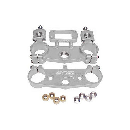 Applied Factory R/S Triple Clamp Set With Oversized Bar Mounts - 24mm Offset - Silver - Main