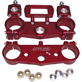 Applied Factory R/S Triple Clamp Set With Oversized Bar Mounts - 25mm Offset - Red - Applied Factory R/S Triple Clamp Set With Oversized Bar Mounts - 25mm Offset - Black