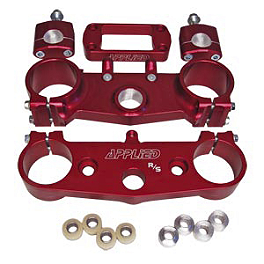 Applied Factory R/S Triple Clamp Set With Oversized Bar Mounts - 21.5mm Offset - Red - Applied Factory R/S Triple Clamp Set With Oversized Bar Mounts - 21.5mm Offset - Black