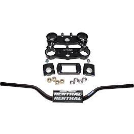 Applied Factory R/S Triple Clamp Set With Renthal Fat Bar Handlebar Combo - Applied Factory R/S Triple Clamp Set With Pro Taper Contour Handlebar Combo