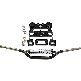 Applied Factory R/S Triple Clamp Set With Renthal Twinwall Handlebar Combo - Applied Factory R/S Triple Clamp Set With Renthal Fat Bar Handlebar Combo