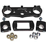 Applied R/S Triple Clamp Kit With Oversized Bar Mounts - 25mm Offset - Black - Applied Dirt Bike Clamps