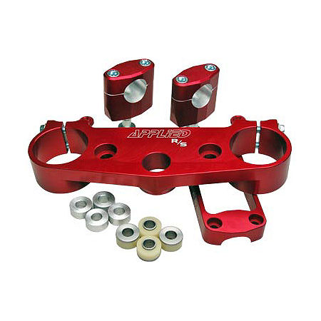 Applied R/S Triple Clamp Kit With Oversized Bar Mounts - 23.5mm Offset - Red - Main