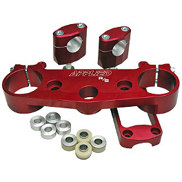 Applied R/S Triple Clamp Kit With Oversized Bar Mounts - Red - 2001 Honda CR250 Applied Works Top Clamp - Silver