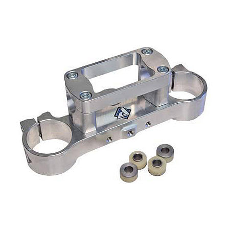 Applied R/S Triple Clamp Kit With Oversized Bar Mounts - 24mm Offset - Silver - Main