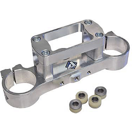 Applied R/S Triple Clamp Kit With Oversized Bar Mounts - Silver - 1996 Honda CR250 Applied Works Top Clamp - Silver