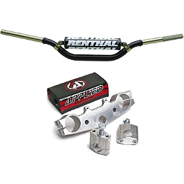 Applied Works Top Clamp With Renthal Twinwall Handlebar Combo - 2000 Kawasaki KX80 Applied Works Top Clamp - Silver