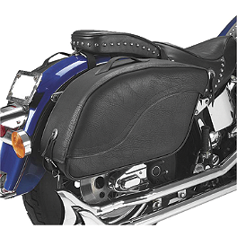 All American Rider Ameritex XL Futura 2000 Detatchable Slanted Saddlebags - Saddlemen Drifter Saddlebags With Shock Cutaway
