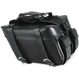 All American Rider Ameritex XL Box Saddlebags With Pockets - All American Rider Ameritex Extra Large Box Slant Saddlebags