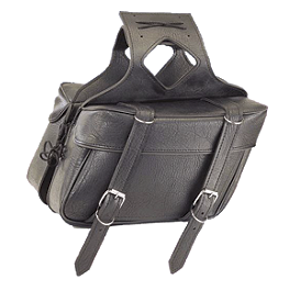 All American Rider Ameritex Large Box Slant Saddlebags - All American Rider Ameritex Large Box Saddlebags With Pockets