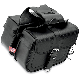 All American Rider Slant Flap-Over Saddlebags - Dunlop Tube MT/Mu90-16 With Straight Metal Stem