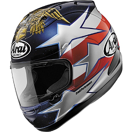 Arai Corsair V Helmet - Edwards Patriot - Arai SAL Shield With Tear-Off Posts