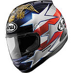 Arai Corsair V Helmet - Edwards Patriot - Arai Cruiser Products