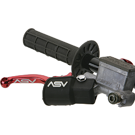 ASV Brake Lever Dust Cover - 2012 Honda CRF450X ASV C6 Pro Clutch Lever With Thumb Hot Start