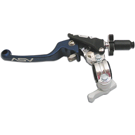 ASV F3 Pro Model Clutch Lever & Perch With Thumb Hot Start - 2002 Honda XR650R ASV Rotator Clamp - Front Brake