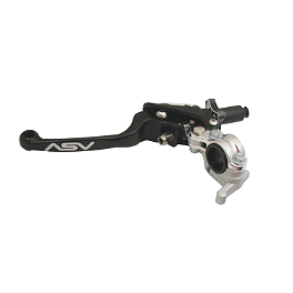 ASV F3 Clutch With Thumb Hot Start - 2012 Honda CRF150R Big Wheel Turner Adjust On The Fly Clutch Lever & Perch With Hot Start - Silver