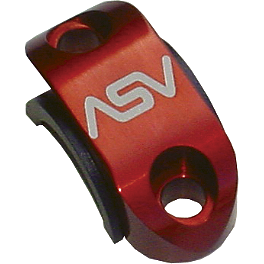 ASV Rotator Clamp - Front Brake - 1999 Honda CR250 ASV F1 Clutch Lever / Cable Brake Lever & Perch - Shorty