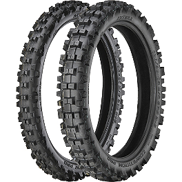 Artrax 250/450F Tire Combo - ODI Motocross Half-Waffle Lock-On Grips - Black