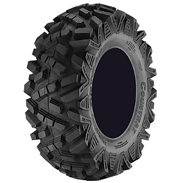Artrax CTX Rear ATV Tire - 25x10-12 - 2000 Yamaha BIGBEAR 400 2X4 MotoSport Alloys Elixir Front Wheel - 14X7 Bronze