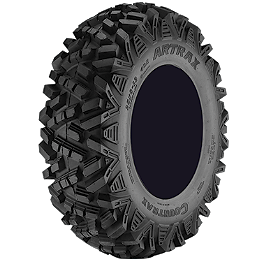 Artrax CTX Front ATV Tire - 25x8-12 - 2004 Yamaha RHINO 660 Moose 387X Rear Wheel - 12X8 4B+4N Black