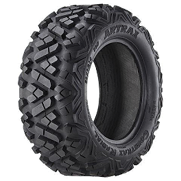 Artrax CTX Radial Front ATV Tire - 26x9-14 - 2000 Polaris XPEDITION 325 4X4 Artrax MDX Radial Rear ATV Tire - 25x10-12