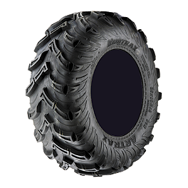 Artrax MDX Radial Rear ATV Tire - 25x10-12 - 2004 Polaris RANGER 700 6X6 Artrax CTX Front ATV Tire - 25x8-12