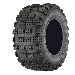 Artrax MXT Rear ATV Tire - 20x10-9 - 2008 Polaris OUTLAW 525 IRS HMF Competition Slip-On Elliptical Exhaust - Black