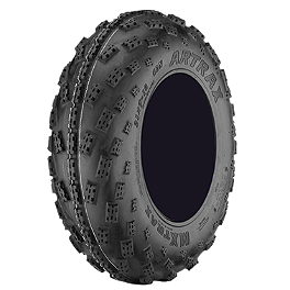 Artrax MXT Front ATV Tire - 22x7-10 - 2012 Yamaha YFZ450R HMF Competition Slip-On Exhaust - Black