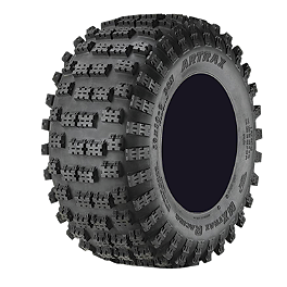 Artrax MXT-R Rear Tire - 18x10-8 - 2008 Polaris OUTLAW 525 S Kenda Pathfinder Front Tire - 19x7-8